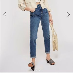 Topshop Mid Wash Mom Jeans